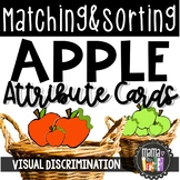 Attribute Sorting: Apple Sorting Math Center {Prek-1}