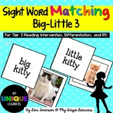Sight Word Matching: Attributes- Big-Little 3