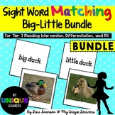 Sight Word Matching: Attributes- Big-Little Bundle