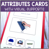 Identifying Attributes for Speech Therapy - Task Cards with Visuals | Autism