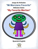 "Spanish Math/Language Attributes Game ""Mi Marciano Favorito"" Juego de Atributos"