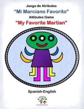 "Spanish Math/Language Attributes Game ""Mi Marciano Favorit"
