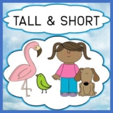 Opposites - Tall & Short Attributes Vocabulary Activities