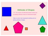 Attributes of 2-D Shapes (1.G.1)