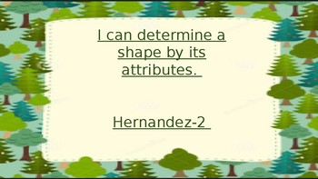 Attributes of 2-D shapes