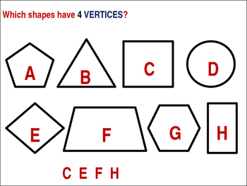 Attributes of 2 dimensional shapes