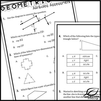 Attributes of 2D Figures Interactive Notebook Set