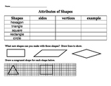 Attributes of 2D shapes assessment