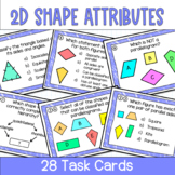 Attributes of 2d Shapes Task Cards