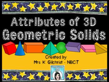 Attributes of 3D Geometric Shapes Promethean ActivInspire Flipchart Lesson