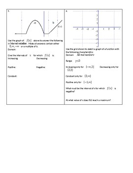 Attributes of Functions Homework