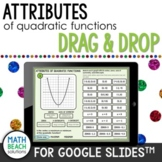 Attributes of Quadratic Functions from Graphs Activity for Google Slides™
