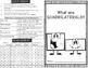 Attributes of Quadrilaterals Minibook plus vocabulary foldable