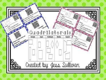 Attributes of Quadrilaterals {QR Code Task Cards}