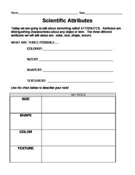 Attributes of Rocks & Minerals