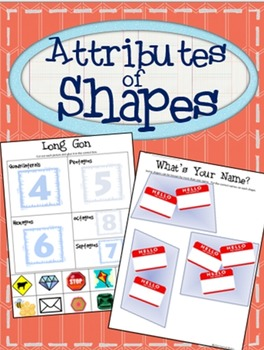 2D Shapes Activities