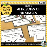 Attributes of 2 Dimensional Shapes | Math Center Activitie