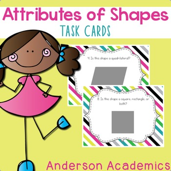 Attributes of Shapes Task Cards {3.G.1}