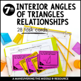 Interior Angles of Triangles Relationships