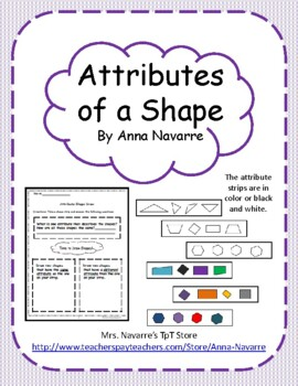 Attributes of a Shape Activity