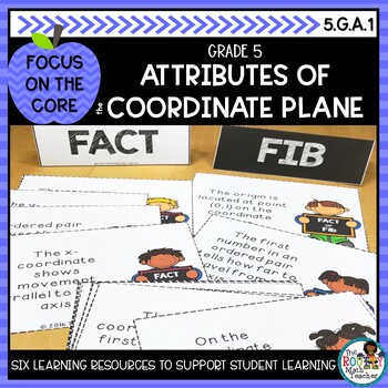Attributes of the Coordinate Plane- Math Center Activity and Printables