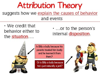 Attribution Theory PowerPoint and Worksheet