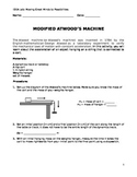 Atwood's Machine Activity