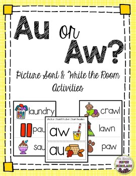 Au/Aw Diphthong Sort/Write the Room