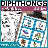 au aw Vowel Digraphs