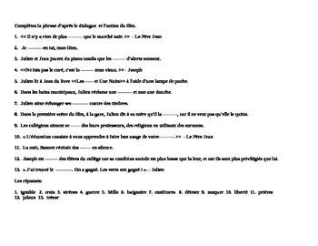 Au Revoir Les Enfants - Plot questions (in French)