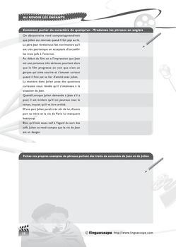 'Au Revoir les enfants' Photocopiable Workbook (Advanced Level Activities)