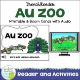 Au Zoo French Zoo Animal Reader & Cut & Paste {en français}