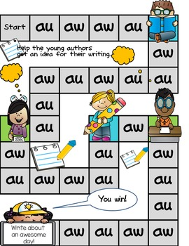 Au and Aw Game and Word Sort