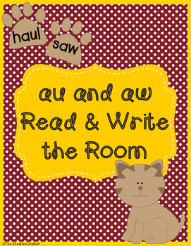 Au and Aw Read and Write the Room / Word Sort