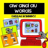 Au and Aw Words|Digital Resource