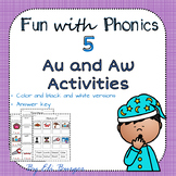Au and Aw Worksheets - Fun with Phonics!