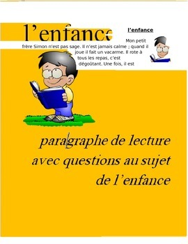L'Enfance FRENCH Reading on Childhood