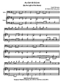 Au Clair de la Lune for Cello & Piano Duet, Easy Sheet Mus