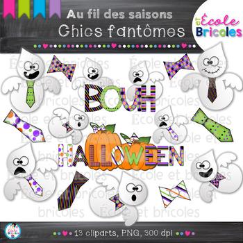 Au fil des saisons-Chics fantômes/Halloween ghost clipart