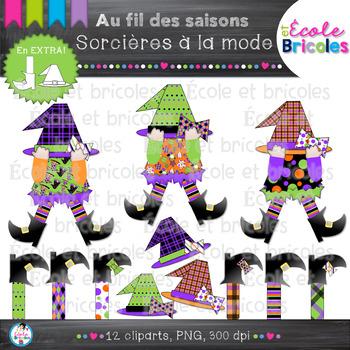Au fil des saisons-Sorcières à la mode/Halloween fashion w