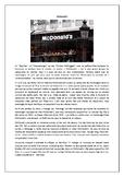 Au restaurant / La cuisine / La nourriture / Le fast-food / McDonald's / Food