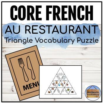 Au restaurant - Triangle Vocabulary Puzzle
