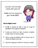 Au revoir 2018, bonjour 2019!  - un projet d'écriture pour la nouvelle année