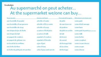 Au supermarche-At the supermarket