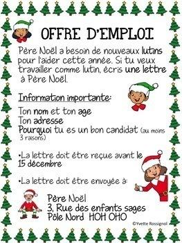 Au travail, les lutins! (French ELF application) Noël, Les lutins