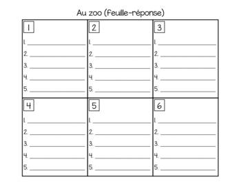 Au zoo (ordre alphabétique)