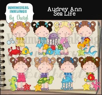 Aubrey Ann Sea Life Clipart Collection