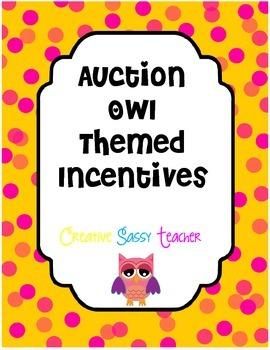 Auction Owl Theme Incentives