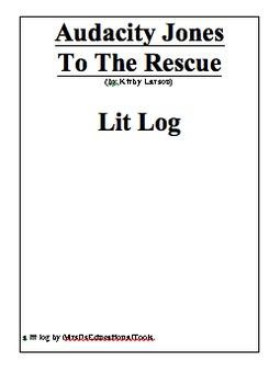 Audacity Jones To The Rescue Lit Log