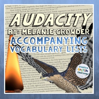 Audacity by Melanie Crowder -- Accompanying Vocabulary Lists